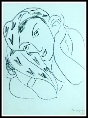 "(alt=""lithography Henri MATISSE thèmes et variations signed in the plate 1943"")"