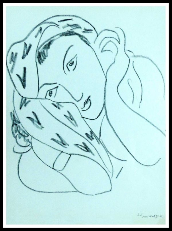 """(alt=""""lithography Henri MATISSE thèmes et variations signed in the plate 1943"""")"""