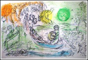 "(alt=original lithography Marc CHAGALL le concert 1957"")"