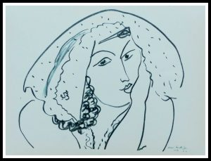 "(alt=""lithography MATISSE thèmes et variations signed in the plate 1943"")"
