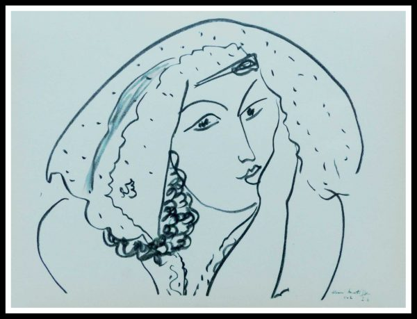 """(alt=""""lithography MATISSE thèmes et variations signed in the plate 1943"""")"""