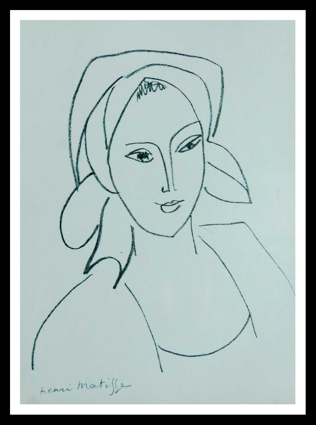 "(alt=""lithography Henri MATISSE Catherinette signed in the plate 1946"")"