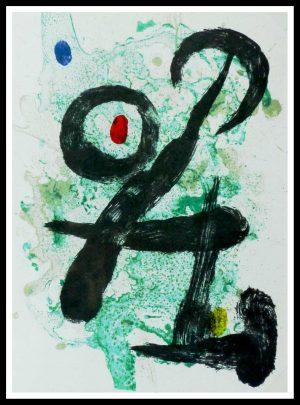 "(alt=""Original lithography Joan MIRO Le faune 1963"""