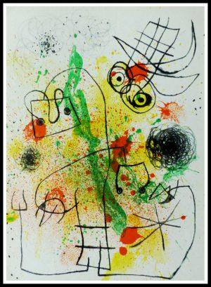"(alt=""lithography Joan MIRO Femme et oiseau 1963"")"
