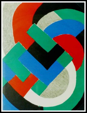 "(alt=""Original abstract lithography Sonia DELAUNAY limited edition 1969"")"
