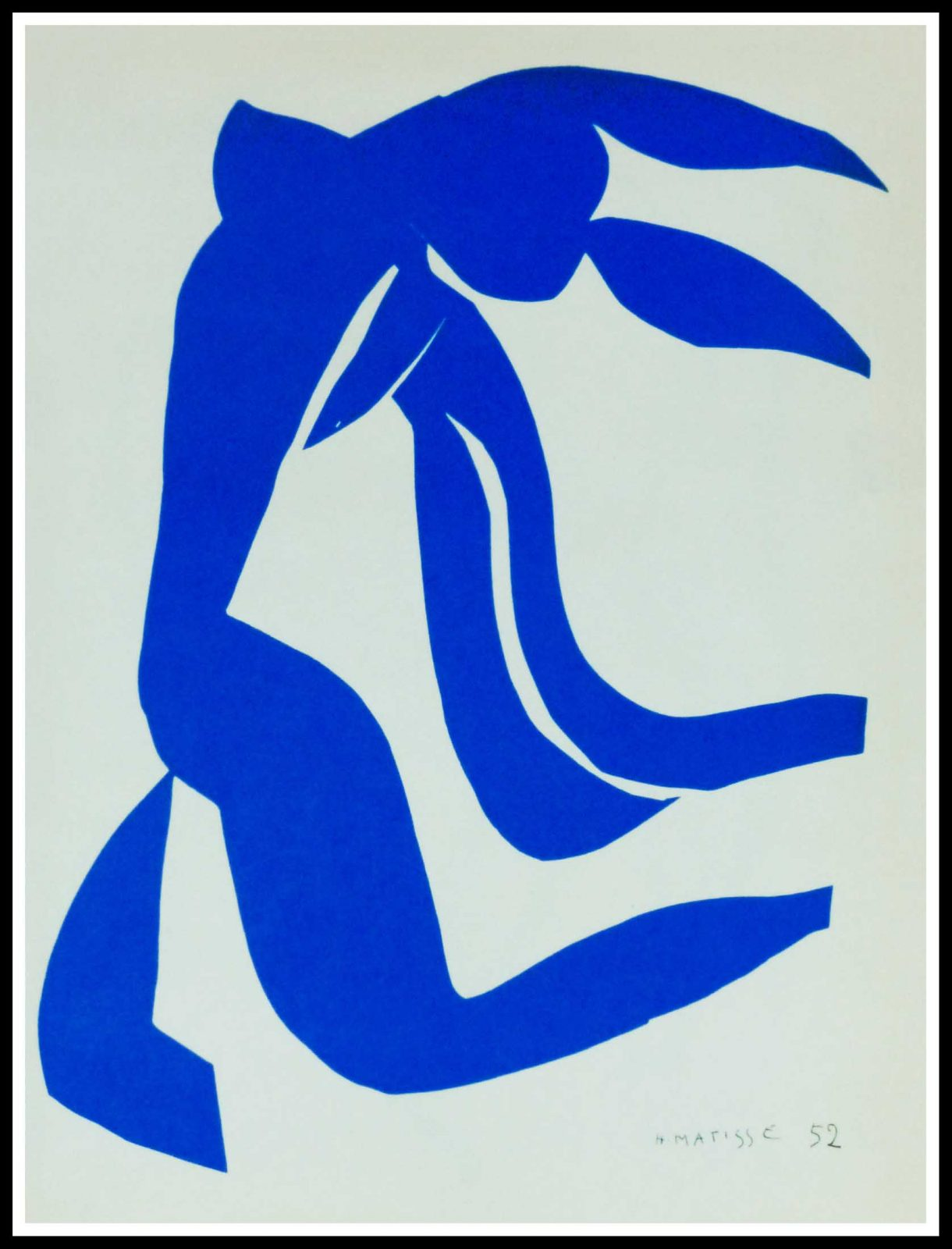 "(alt=""lithography Matisse blue nude 1958"""