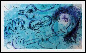 """(alt=""""Original lithography Marc CHAGALL le joueur de flûte 1957"""")"""