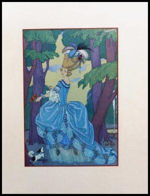 """(alt=""""original lithography Georges BARBIER, Jardin du roi, art deco, 1928"""")"""