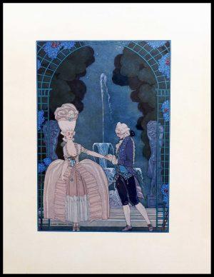 """(alt=""""original lithography Georges BARBIER, cachez ce sein, art deco 1928"""")"""