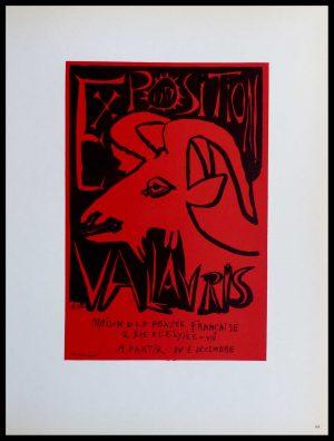 """(alt=""""lithography Pablo PICASSO Exposition Vallauris Maison de la pensée française signed in the plate 1959)"""")"""
