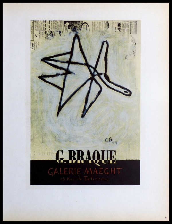 "(alt=""Lithography Georges BRAQUE Galerie Maeght monogrammed in the plate 1959"")"