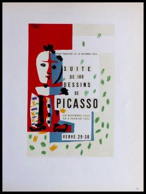 """(alt=""""lithography Pablo PICASSO suite de 180 dessins de Picasso VERVE signed in the plate 1959"""")"""