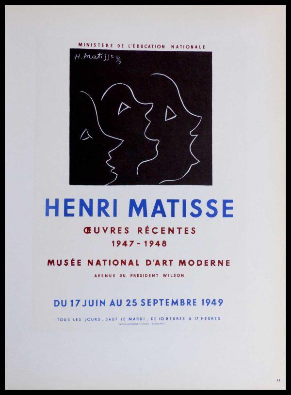 "(alt=""Lithography Henri MATISSE Musée National d'Art Moderne signed in the plate 1959"")"
