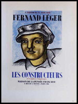 """(alt=""""Lithography Fernand LEGER les constructeurs et sculptures polychromes 1959"""")"""