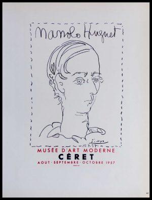 """(ALT=""""lithography Pablo PICASSO Manolo Huguet Musée d'Art Moderne Céret 1959"""")"""