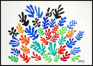 """(alt=""""Henri MATISSE lithography la gerbe signed in the plate 1958"""")"""