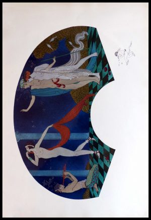 """(alt=""""original lithography Georges BARBIER art deco signed in the plate 1911"""")"""