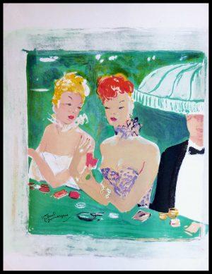 "(alt=""original stencil DOMERGUE Parisians signed in the plate 1948"")"
