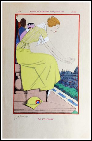 """(alt=""""original lithography Georges LEPAPE art deco signed in the plate1913"""")"""