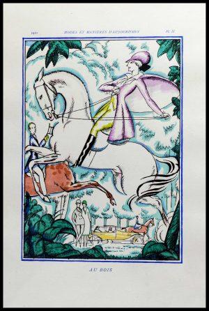 """(alt=""""original stencil Robert BONFILS art deco lithography 1920"""")"""