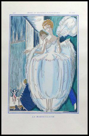 """(alt=""""original stencil Robert BONFILS art deco lithography"""")"""