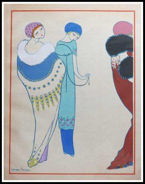 "(alt= ""Original stencil Georges LEPAPE, Paul POIRET signed in the plate"")"