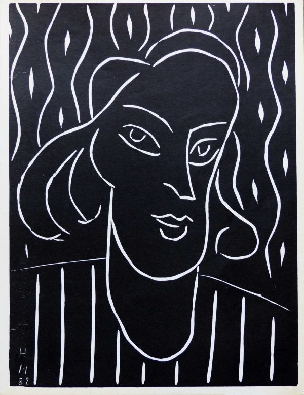 """(alt=""""linocut Henri MATISSE Teeny signed and dated in the plate 1959"""")"""