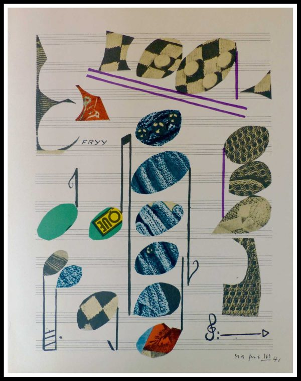 """(alt=""""lithography Alberto MAGNELLI Musical composition signed in the plate limited edition"""")"""