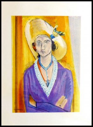 """(alt=""""lithography Henri MATISSE woman with a hat 1954 signed in the plate"""")"""
