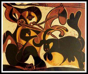 "(alt=""linocut Pablo PICASSO torero 1962"")"
