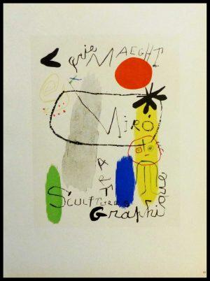 "(alt=""lithography Joan MIRO Galerie Maeght sculptures graphiques 1959"")"