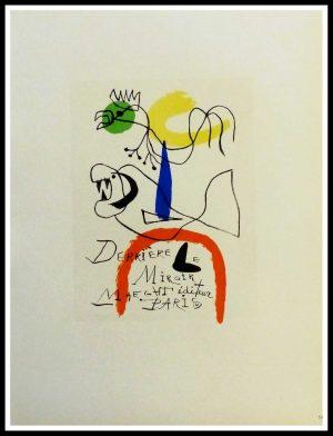 """(alt=""""lithography Joan MIRO Derrière le Miroir Galerie Maeght Paris 1959"""")"""