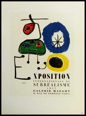 """(alt=""""lithography Joan MIRO exposition surréalisme Maeght signed in the plate 1959"""")"""