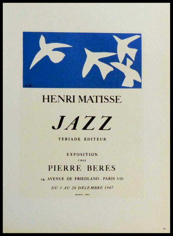 "(alt=""lithography Henri MATISSE Jazz Pierre Berès 1959"")"