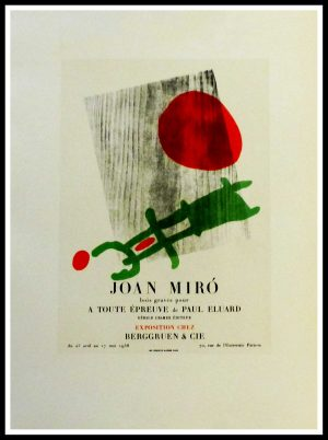 """(alt=""""lithography Joan MIRO exposition Berggruen 1959"""")"""