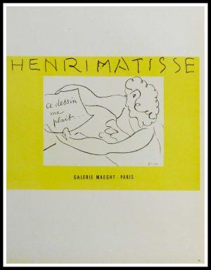"(alt=""lithography Henri Matisse Galerie Maeght ce dessin me plaît 1959"")"