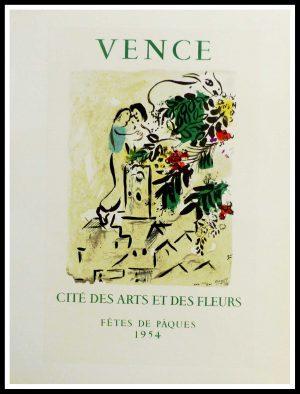 """(alt=""""lithography Marc Chagall Vence cité des arts et des fleurs fêtes de pâques 1959"""")"""
