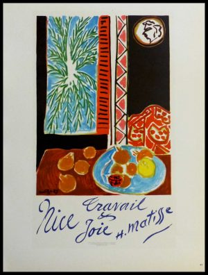 "(alt=""lithography Henri MATISSE Nice Joie Travail signed in the plate 1959"")"