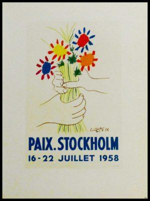 """(alt=""""lithography Pablo PICASSO Paix Stockholm 1959"""")"""