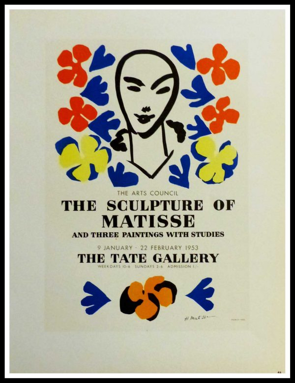 """(alt=""""lithography Henri MATISSE the sculpture of matisse the tate gallery signed in the plate 1959"""")"""