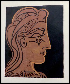 "(alt=""linocut Pablo PICASSO woman from profile 1962"")"