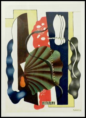 """(alt=""""lithography Fernand LEGER, composition au coquillage, abstract lithography printed by MOURLOT 1950"""")"""