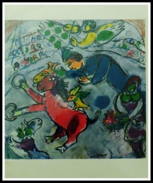 """(alt=""""lithography Marc CHAGALL circus signed in the plate 1968"""")"""