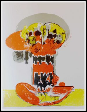 """(alt=""""original lithography Graham SUTHERLAND, Composition 1972 printed by Ateliers Mourlot Paris, Limited edition"""")"""