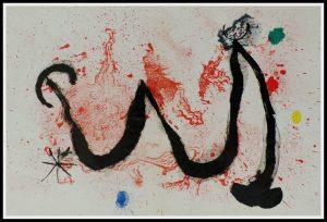 "(alt=""horizontal lithography Joan MIRO la danse du feu Maeght PARIS 1970"")"
