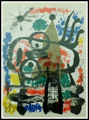 """(alt=original lithography Joan MIRO, composition 1960, printed by MOURLOT Paris 1960"""")"""