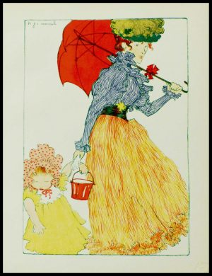 """(alt=""""art nouveau original lithography Henri EVENEPOEL from l'Estampe Moderne signed in the plate printed by CHAMPENOIS"""")"""