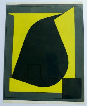 "(alt=""original pochoir Victor VASARELY, Pochoir N°10, printed by Daniel JACOMET Paris, limited Edition 1958"")"