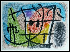 """(alt=""""original abstract lithography, MIRO, CARTONES, printed by MOURLOT 1965"""")"""