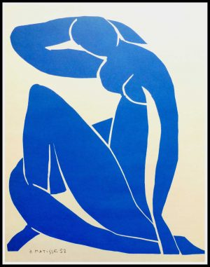 """(alt=""""lithography Henri MATISSE blue Nude signed and dated 1958"""")"""